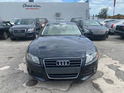 2012 Audi A5 for sale at America Auto Wholesale Inc in Miami FL