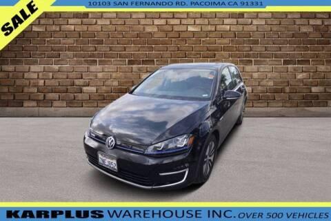 2015 Volkswagen e-Golf for sale at Karplus Warehouse in Pacoima CA