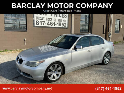 2004 BMW 5 Series for sale at BARCLAY MOTOR COMPANY in Arlington TX