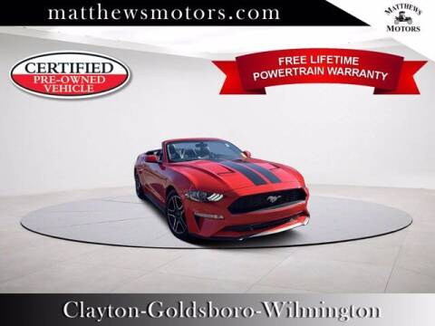 2018 Ford Mustang for sale at Auto Finance of Raleigh in Raleigh NC
