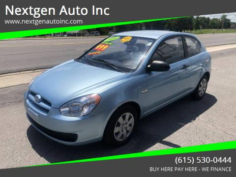 2009 Hyundai Accent for sale at Nextgen Auto Inc in Smithville TN