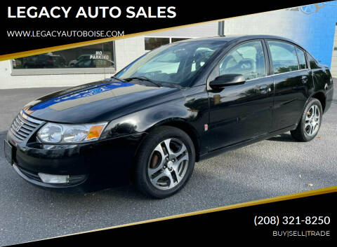 2005 Saturn Ion for sale at LEGACY AUTO SALES in Boise ID