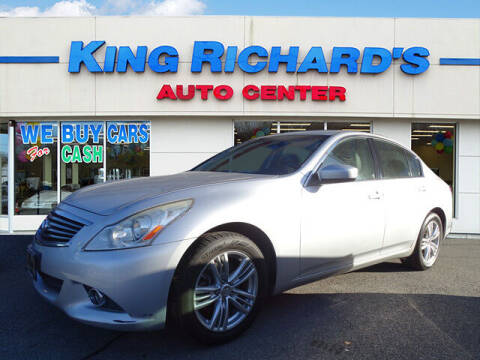 2012 Infiniti G25 Sedan for sale at KING RICHARDS AUTO CENTER in East Providence RI