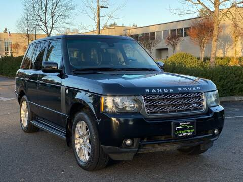 2010 Land Rover Range Rover for sale at Lux Motors in Tacoma WA