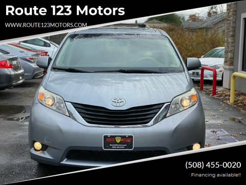 2011 Toyota Sienna for sale at Route 123 Motors in Norton MA
