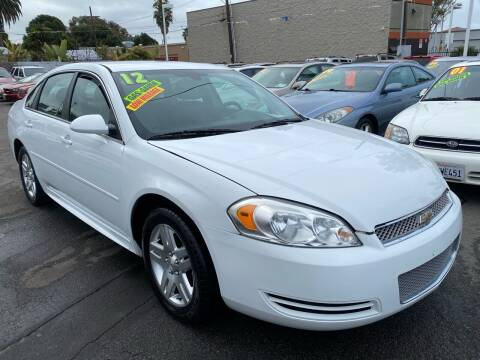 2012 Chevrolet Impala for sale at North County Auto in Oceanside CA