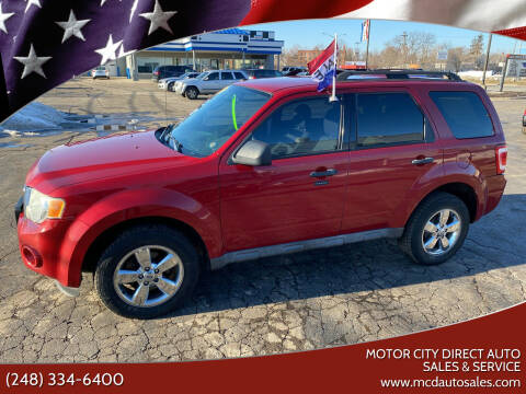 2009 Ford Escape for sale at Motor City Direct Auto Sales & Service in Pontiac MI