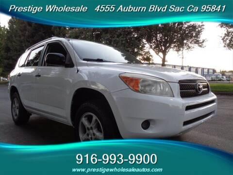 2007 Toyota RAV4 for sale at Prestige Wholesale in Sacramento CA
