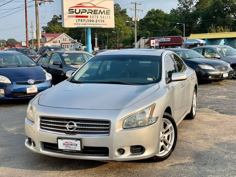 2011 Nissan Maxima for sale at Supreme Auto Sales in Chesapeake VA