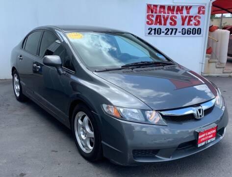 2010 Honda Civic for sale at Manny G Motors in San Antonio TX