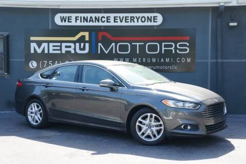 2016 Ford Fusion for sale at Meru Motors in Hollywood FL