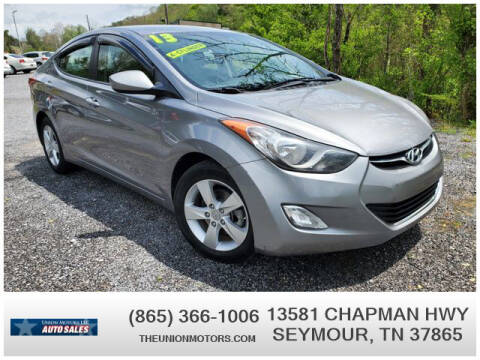 2013 Hyundai Elantra for sale at Union Motors in Seymour TN