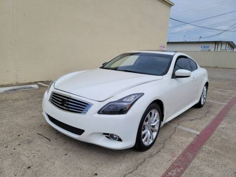 2012 Infiniti G37 Coupe for sale at A & J Enterprises in Dallas TX