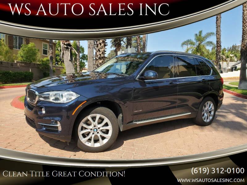 2015 BMW X5 for sale at WS AUTO SALES INC in El Cajon CA