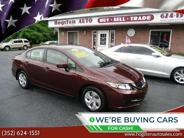 2015 Honda Civic for sale at HOGSTEN AUTO WHOLESALE in Ocala FL