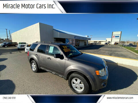 2012 Ford Escape for sale at Miracle Motor Cars Inc. in Victorville CA
