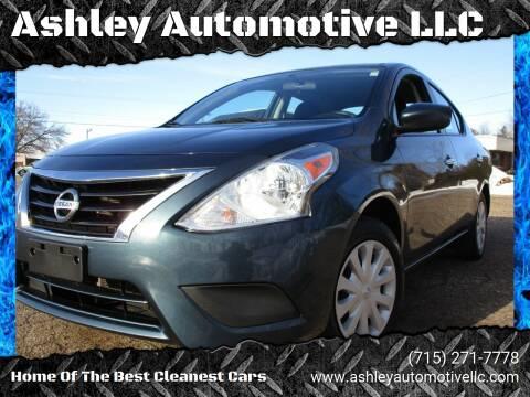 2016 Nissan Versa for sale at Ashley Automotive LLC in Altoona WI