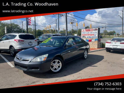 2007 Honda Accord for sale at L.A. Trading Co. Woodhaven in Woodhaven MI