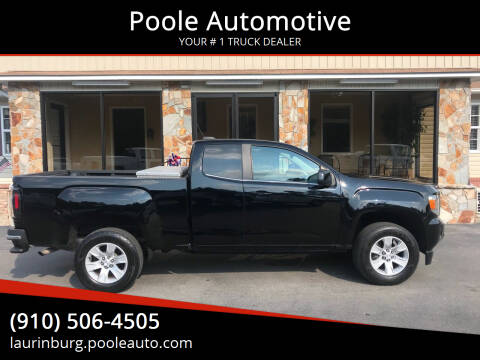 2015 GMC Canyon for sale at Poole Automotive in Laurinburg NC