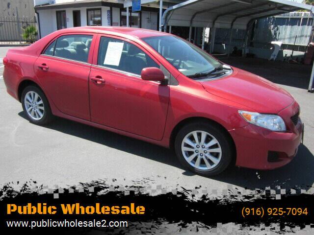 2010 Toyota Corolla for sale at Public Wholesale in Sacramento CA