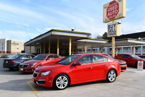2015 Chevrolet Cruze for sale at Houston Used Auto Sales in Houston TX