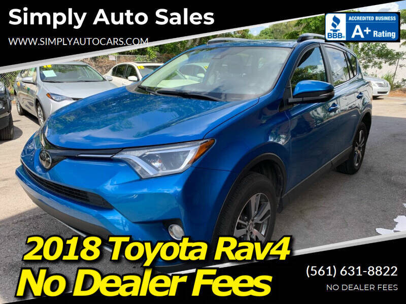 2018 Toyota RAV4 for sale in Palm Beach Gardens, FL