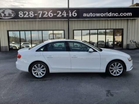 2013 Audi A4 for sale at AutoWorld of Lenoir in Lenoir NC
