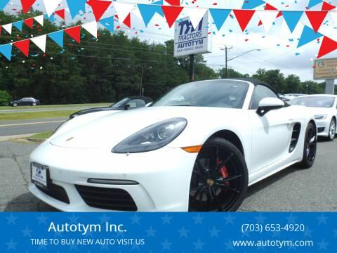 2017 Porsche 718 Boxster for sale at AUTOTYM INC in Fredericksburg VA
