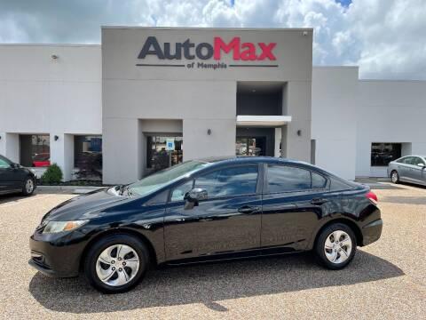 2013 Honda Civic for sale at AutoMax of Memphis - Alex Vivas in Memphis TN