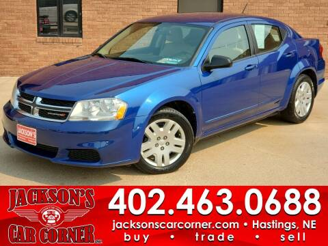 2013 Dodge Avenger for sale at Jacksons Car Corner Inc in Hastings NE