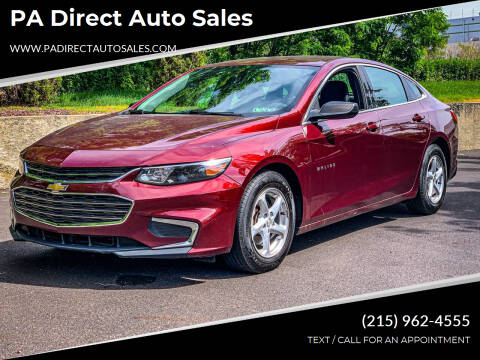 2016 Chevrolet Malibu for sale at PA Direct Auto Sales in Levittown PA