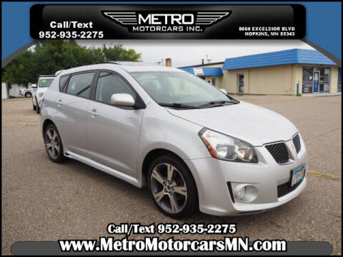 2009 Pontiac Vibe for sale at Metro Motorcars Inc in Hopkins MN