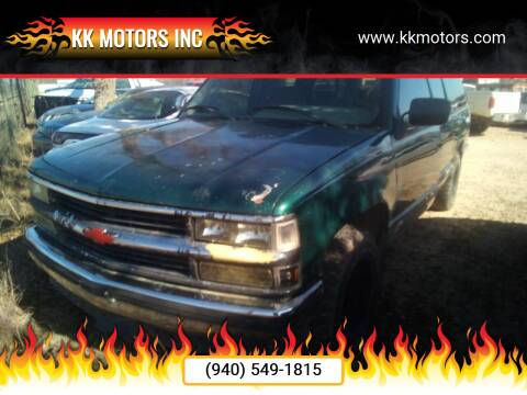 1995 Chevrolet Suburban for sale at KK Motors Inc in Graham TX