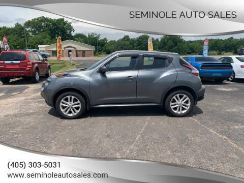 2015 Nissan JUKE for sale at Seminole Auto Sales in Seminole OK