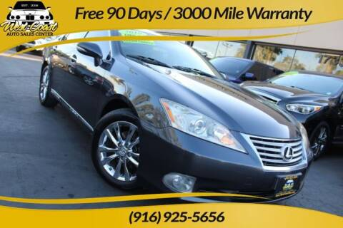2010 Lexus ES 350 for sale at West Coast Auto Sales Center in Sacramento CA