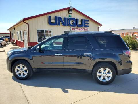 "2015 GMC Acadia for sale at UNIQUE AUTOMOTIVE ""BE UNIQUE"" in Garden City KS"