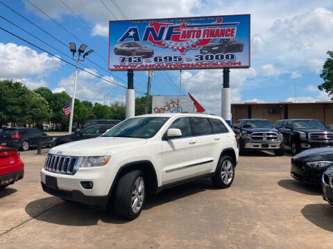 2012 Jeep Grand Cherokee for sale at ANF AUTO FINANCE in Houston TX