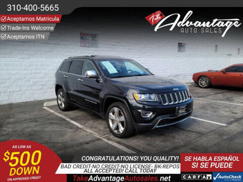 2015 Jeep Grand Cherokee for sale at ADVANTAGE AUTO SALES INC in Bell CA