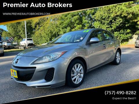 2013 Mazda MAZDA3 for sale at Premier Auto Brokers in Virginia Beach VA