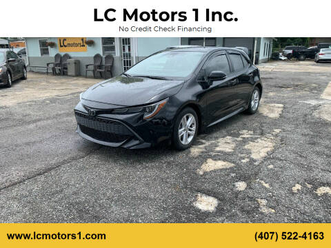 2019 Toyota Corolla Hatchback for sale at LC Motors 1 Inc. in Orlando FL