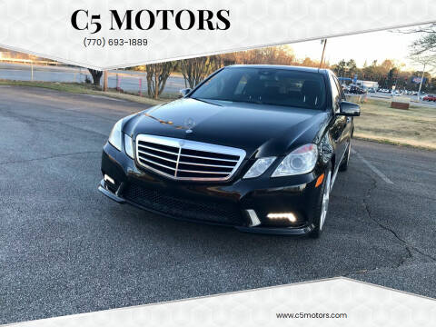 2010 Mercedes-Benz E-Class for sale at C5 Motors in Marietta GA