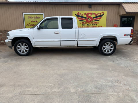 2002 GMC Sierra 1500 for sale at BIG 'S' AUTO & TRACTOR SALES in Blanchard OK