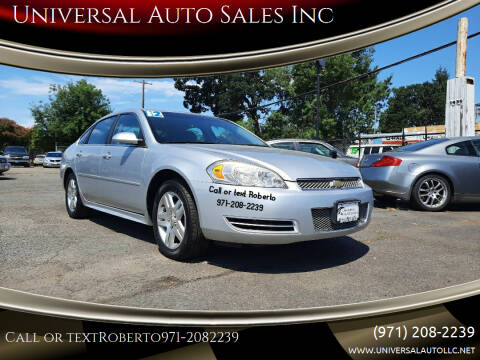 2012 Chevrolet Impala for sale at Universal Auto Sales Inc in Salem OR