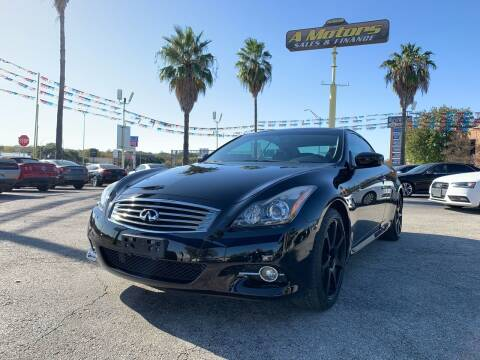2014 Infiniti Q60 Convertible for sale at A MOTORS SALES AND FINANCE - 6226 San Pedro Lot in San Antonio TX