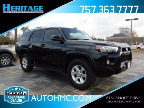 2016 Toyota 4Runner for sale at Heritage Motor Company in Virginia Beach VA