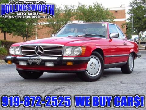 1988 Mercedes-Benz 560-Class for sale at Hollingsworth Auto Sales in Raleigh NC