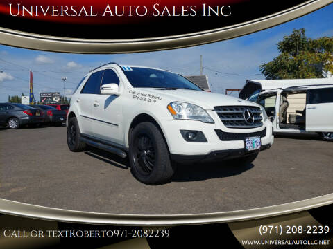 2011 Mercedes-Benz M-Class for sale at Universal Auto Sales Inc in Salem OR