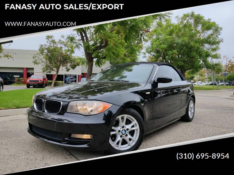 2009 BMW 1 Series for sale at FANASY AUTO SALES/EXPORT in Yorba Linda CA