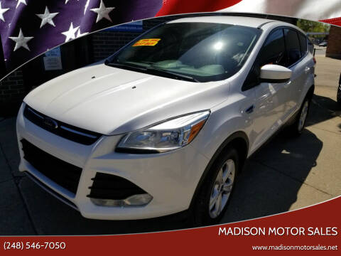 2013 Ford Escape for sale at Madison Motor Sales in Madison Heights MI