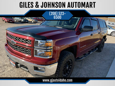 2015 Chevrolet Silverado 1500 for sale at GILES & JOHNSON AUTOMART in Idaho Falls ID